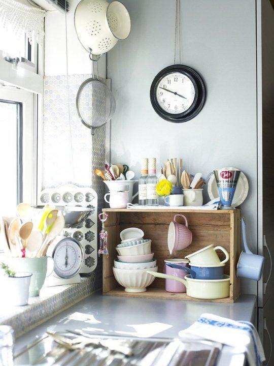 Decoración de cocina sin espacio