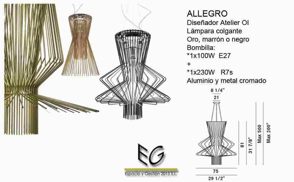 Lámpara Allegro Foscarini