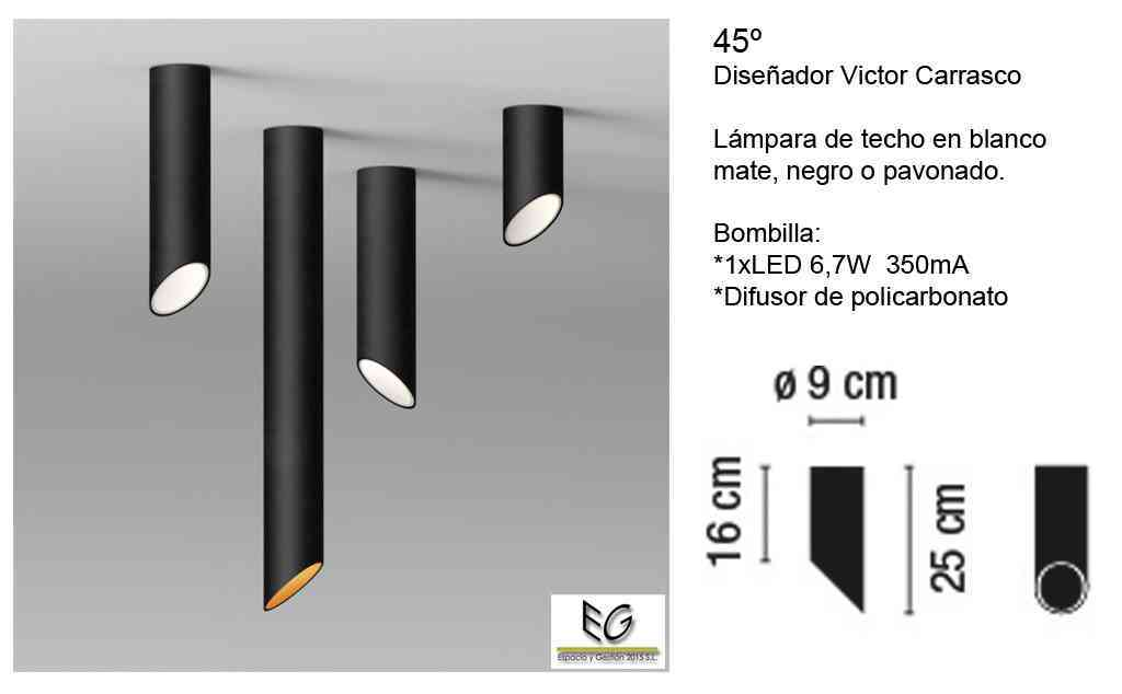 Lámpara 45º Vibia