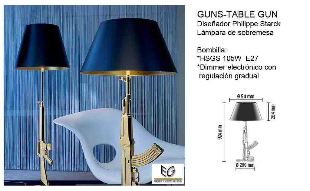 Lámpara Guns Table Flos