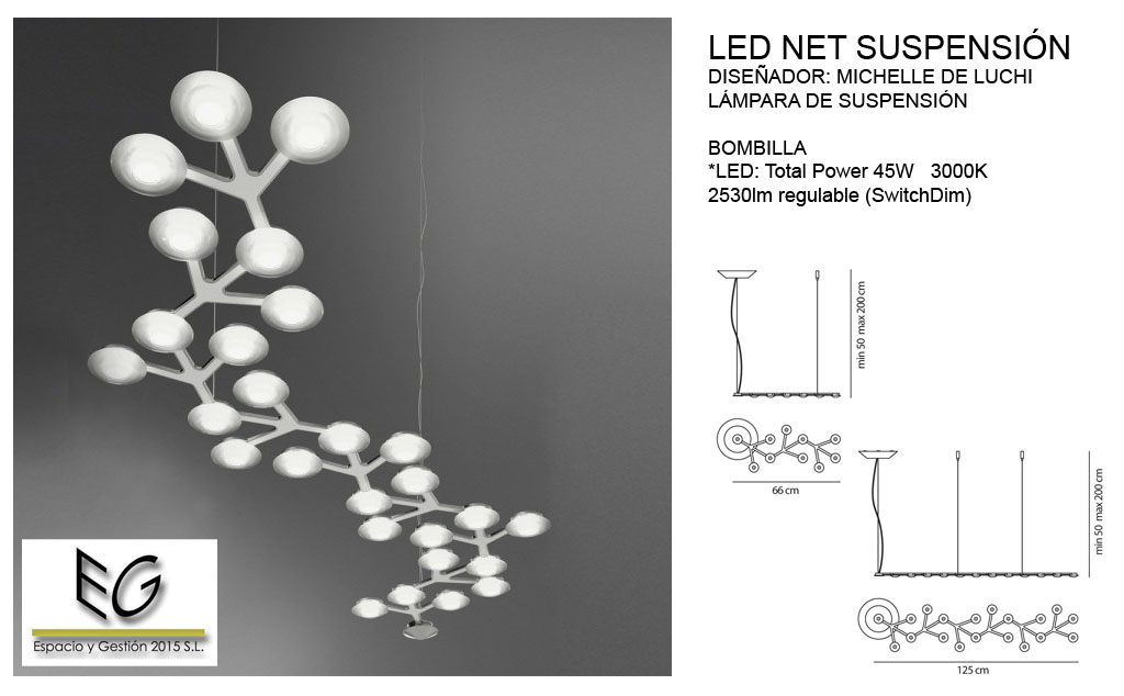 Lámpara Led Net Suspensión Artemide