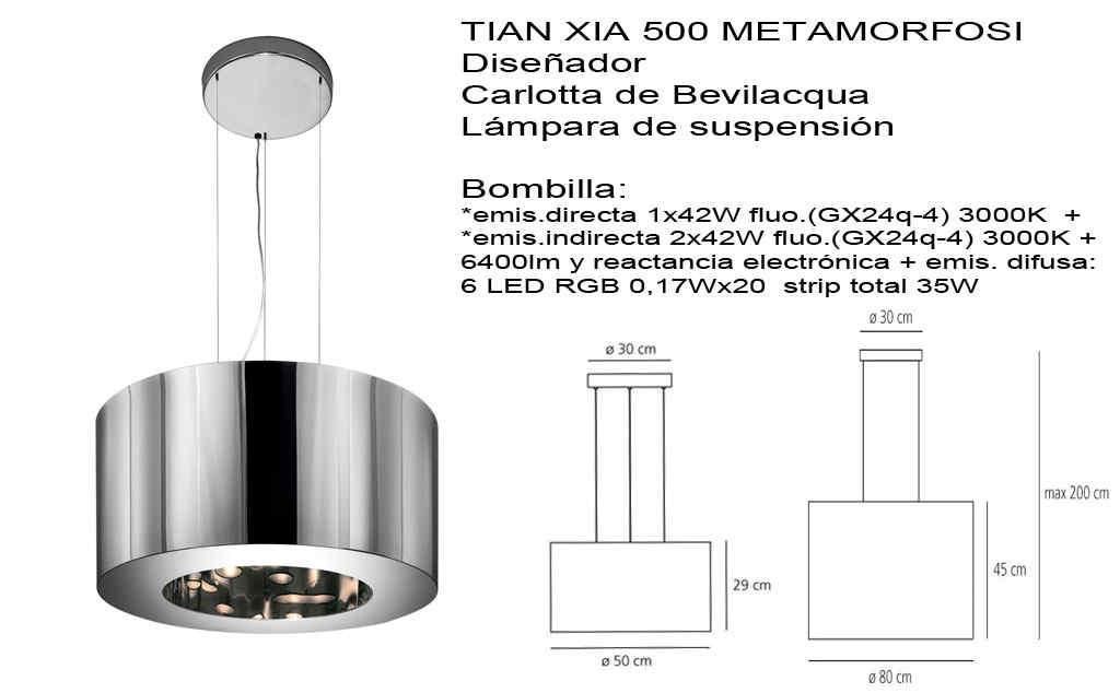 Lámpara Tian Xia 500 Metamorfosi Artemide