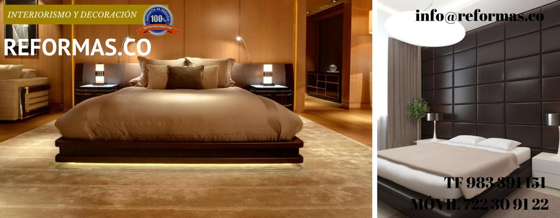 pared panelada en cuero en dormitorio minimalista