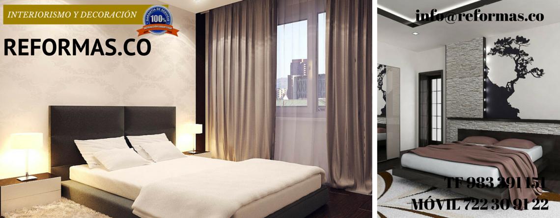 pared de piedra y vinilo en dormitorio minimalista