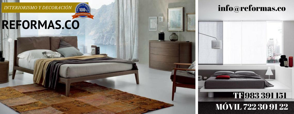 dormitorio minimalista con vistas