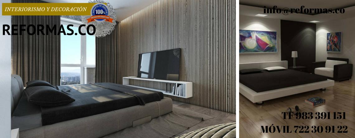 dormitorios minimalistas con cortinas