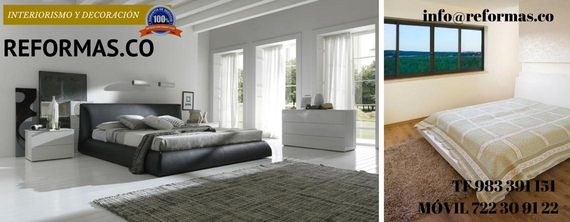 dormitorio minimalista con alfombra