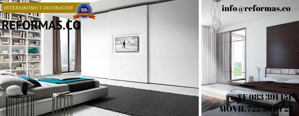 estantería a medida en habitación minimalista