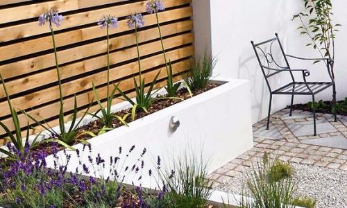terrazas y jardines minimalistas