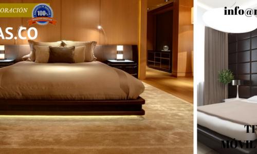 dormitorios minimalistas con vestidor