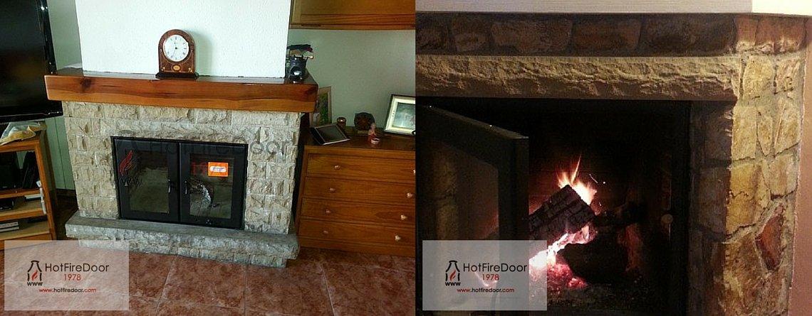 chimeneas hot fire door