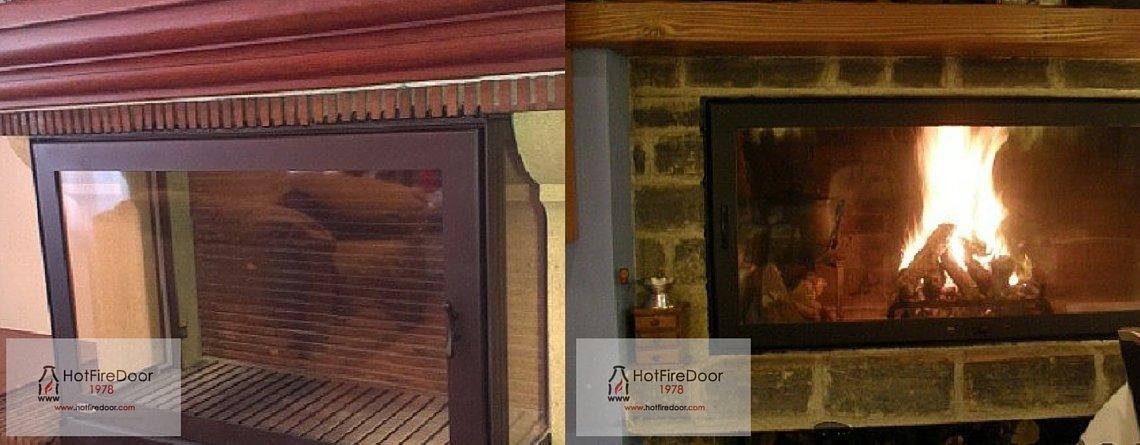puertas para chimeneas